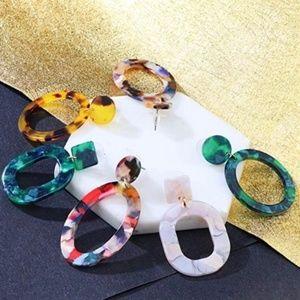 BaubleBar Style Acrylic Dangle Stud Earrings